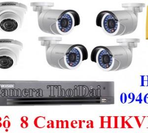 Lắp đặt trọn bộ 8 mắt camera hikvision 2mp