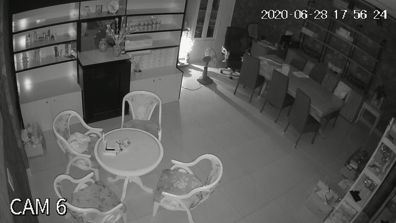 Hình ảnh hồng ngoại ban đêm của bộ camera kbvision