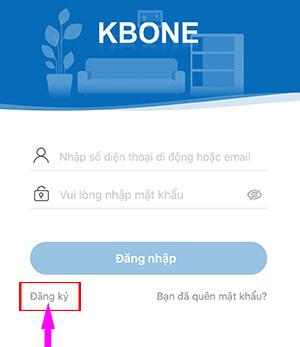 Tạo một tài khoản mới trên phần mềm kbone