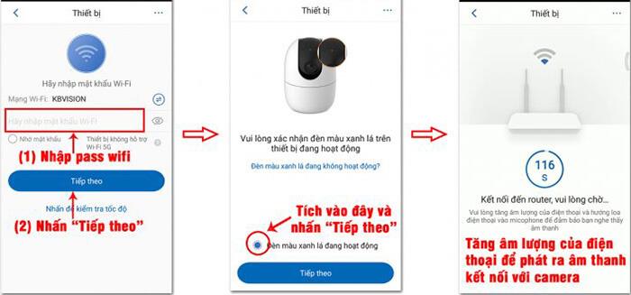 Kết nối wifi và quét thiết bị